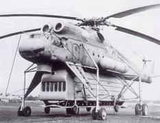 Mi-10P (Helicóptero de contramedidas electrónicas. Electronic countermeasures helicopter), 1970
